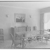 Howard Kittell, residence at 2525 Sunset Dr., Sunset Island, no. 2, Miami Beach, Florida. Dining room