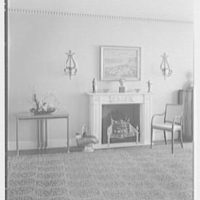 H.T. Lindeberg, residence at 333 E. 57th St., New York City. Dining room, to fireplace (natural light)