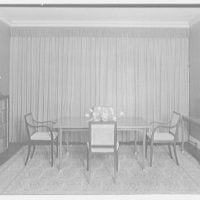 H.T. Lindeberg, residence at 333 E. 57th St., New York City. Dining table, to window