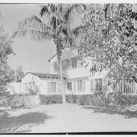 H.T. Morgan, residence at 31 LaGorce Cir., Miami Beach, Florida. West facade