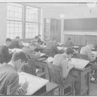 Iona School science building, New Rochelle, New York. Engineering classroom