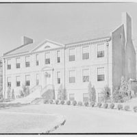 Iona School science building, New Rochelle, New York. General view from right