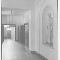 Iona School science building, New Rochelle, New York. Hall and niche