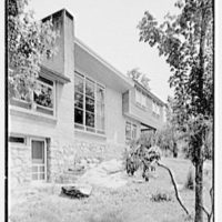 James H. Hansen, residence in Redding, Connecticut. Lake facade I