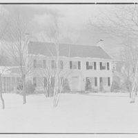 James S. Ogsbury, residence on Elderfield Rd., Manhasset, Long Island. Entrance facade