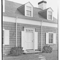 James S. Yates, residence in East Hampton, Long Island. Entrance detail