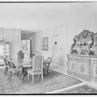 J.H. Buchman, Cedar Ledge, residence in Schroon Lake, New York. Dining room