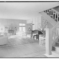 J.H. Buchman, Cedar Ledge, residence in Schroon Lake, New York. Living room II