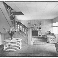 J.H. Buchman, Cedar Ledge, residence in Schroon Lake, New York. Living room, main house I