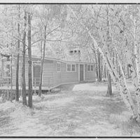 John C.B. Moore, residence in Pound Ridge, New York. Entrance view