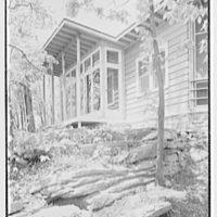 John C.B. Moore, residence in Pound Ridge, New York. Rear facade II