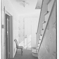 John L. Marsh, residence on Round Hill Rd., Fairfield, Connecticut. Entrance hall