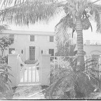John W. Bullock, residence at Sunset Island, no. 2, Miami Beach, Florida. General view through entrance gates