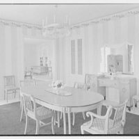 Julio C. Sanchez, residence at Sunset Island, no. 2, Miami Beach, Florida. Dining room towards living room