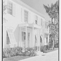 Julio C. Sanchez, residence at Sunset Island, no. 2, Miami Beach, Florida. Entrance facade, sharp view