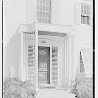 Julio C. Sanchez, residence at Sunset Island, no. 2, Miami Beach, Florida. Entrance detail