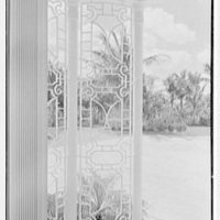 Julio C. Sanchez, residence at Sunset Island, no. 2, Miami Beach, Florida. Entrance portico, ironwork detail I
