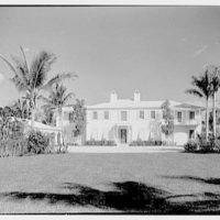 Julio C. Sanchez, residence at Sunset Island, no. 2, Miami Beach, Florida. Entrance facade from street