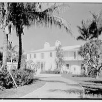 Julio C. Sanchez, residence at Sunset Island, no. 2, Miami Beach, Florida. Entrance facade from entrance drive