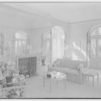 Kenneth G. Smith, residence on Via Del Mar, Palm Beach, Florida. Interior, to fireplace