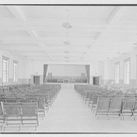 Kent School, Kent, Connecticut. Auditorium building, assembly room