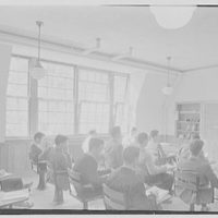 Kent School, Kent, Connecticut. Auditorium building, study room