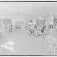 Kent School, Kent, Connecticut. Library building, book room