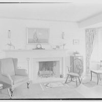 Kent School, Kent, Connecticut. Library building, married master's living room