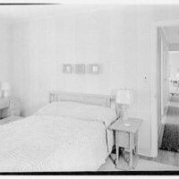 Lifehouse no. 3, Harbour Green, Massapequa, Long Island. Master bedroom, to hall