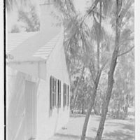 Martin L. Quinn, Jr., residence in Hobe Sound, Florida. Gable detail