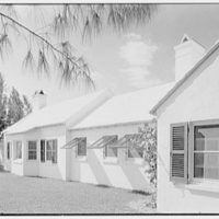 Martin L. Quinn, Jr., residence in Hobe Sound, Florida. Ocean facade from right, framed