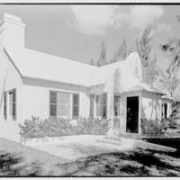 Martin L. Quinn, Jr., residence in Hobe Sound, Florida. South facade from left