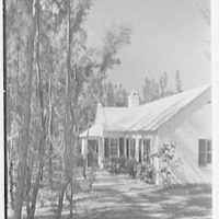 Martin L. Quinn, Jr., residence in Hobe Sound, Florida. South facade, vertical from right
