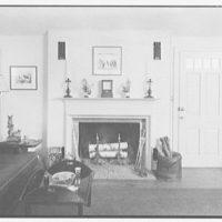 Mrs. Alexander G. Walcott, residence in Norfolk, Connecticut. Living room fireplace detail