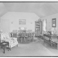 Mrs. Alexander G. Walcott, residence in Norfolk, Connecticut. Living room, to dining table I