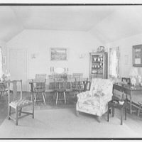 Mrs. Alexander G. Walcott, residence in Norfolk, Connecticut. Living room, to dining table II