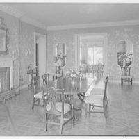 Mrs. Francis A. Shaughnessy, residence on Ocean Blvd., Palm Beach, Florida. Dining room I