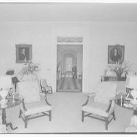 Mrs. Francis A. Shaughnessy, residence on Ocean Blvd., Palm Beach, Florida. Living room, to hall