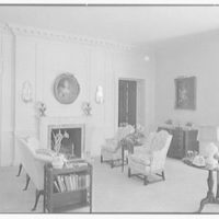 Mrs. Francis A. Shaughnessy, residence on Ocean Blvd., Palm Beach, Florida. Living room, to fireplace