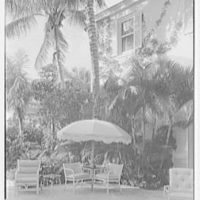 Mrs. Francis A. Shaughnessy, residence on Ocean Blvd., Palm Beach, Florida. Patio detail