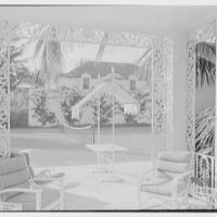 Mrs. Francis A. Shaughnessy, residence on Ocean Blvd., Palm Beach, Florida. Pavilion, to tennis court