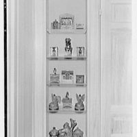 Mrs. Francis A. Shaughnessy, residence on Ocean Blvd., Palm Beach, Florida. Toy banks, extreme left of fireplace