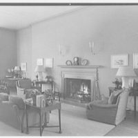 Mrs. George F. Baker, Horseshoe Plantation, residence in Tallahassee, Florida. Living room, to east fireplace