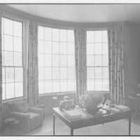 Mrs. George F. Baker, Horseshoe Plantation, residence in Tallahassee, Florida. Living room window