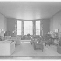 Mrs. George F. Baker, Horseshoe Plantation, residence in Tallahassee, Florida. Living room from entrance door