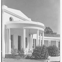 Mrs. George F. Baker, Horseshoe Plantation, residence in Tallahassee, Florida. Portico detail
