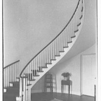 Mrs. George F. Baker, Horseshoe Plantation, residence in Tallahassee, Florida. Staircase
