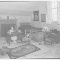 Mrs. Lawrence J. Ullman, Heritage House, business on Prospect Ave., Tarrytown, New York. Children's antiques with little girl