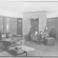 National Cash Register Co., 50 Rockefeller Plaza. End of salon II, with figures