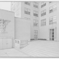 New York Medical College, 106th St. near 5th Ave., New York City. Emblem and entrance doors